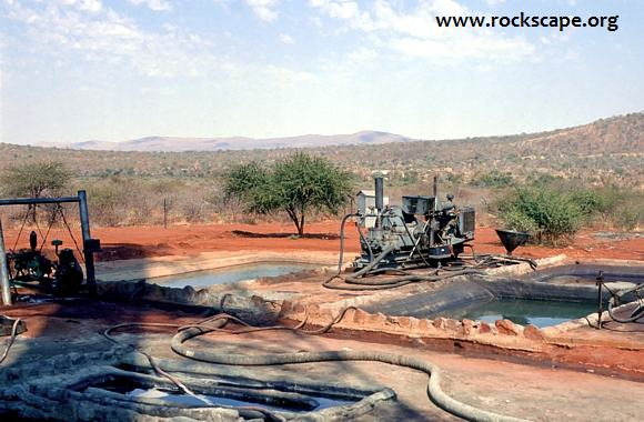 View south with part of the Bushveld Complex roof complex seen on the horizon.